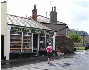 Sweet shop on corner of St James Green